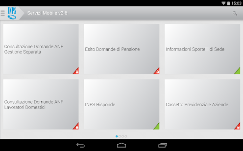 INPS Servizi Mobile per Tablet- screenshot thumbnail
