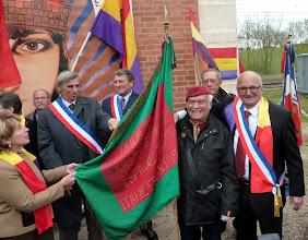 Photo: Le drapeau de l'Amicale des Garibaldiens