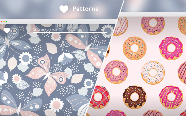 girly patterns new tab chrome web store