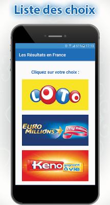 Résultat Loto France - screenshot
