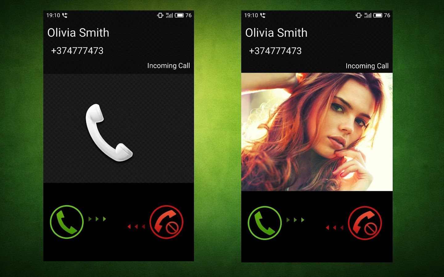 Full Screen Caller ID- screenshot
