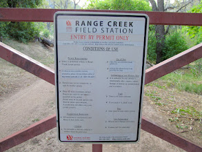 Photo: Range Creek north gate