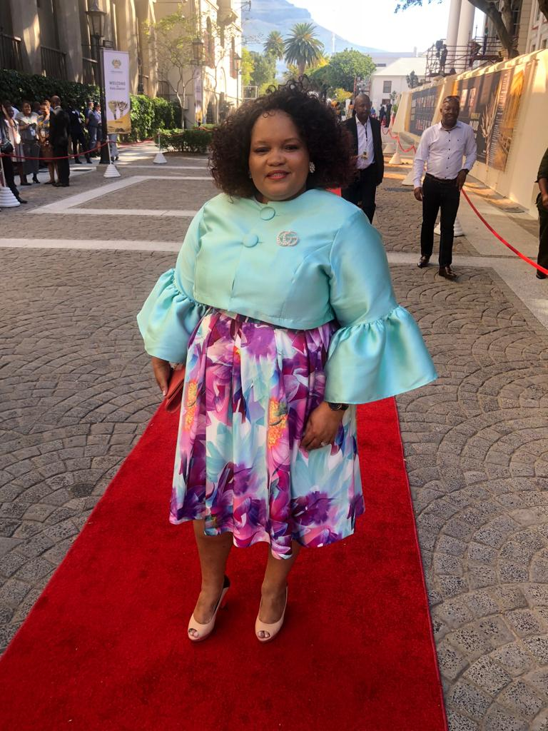 ANC MP Peace Mabe at the state of the nation address in Cape Town on February 7 2019.