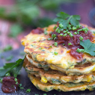 Corn Fritters with Tomato Relish