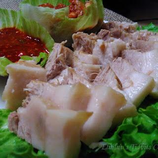 Apple Infused Korean Pork Wraps ( Bossam ) - Non Halal