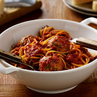 Spaghetti and Turkey Meatballs.