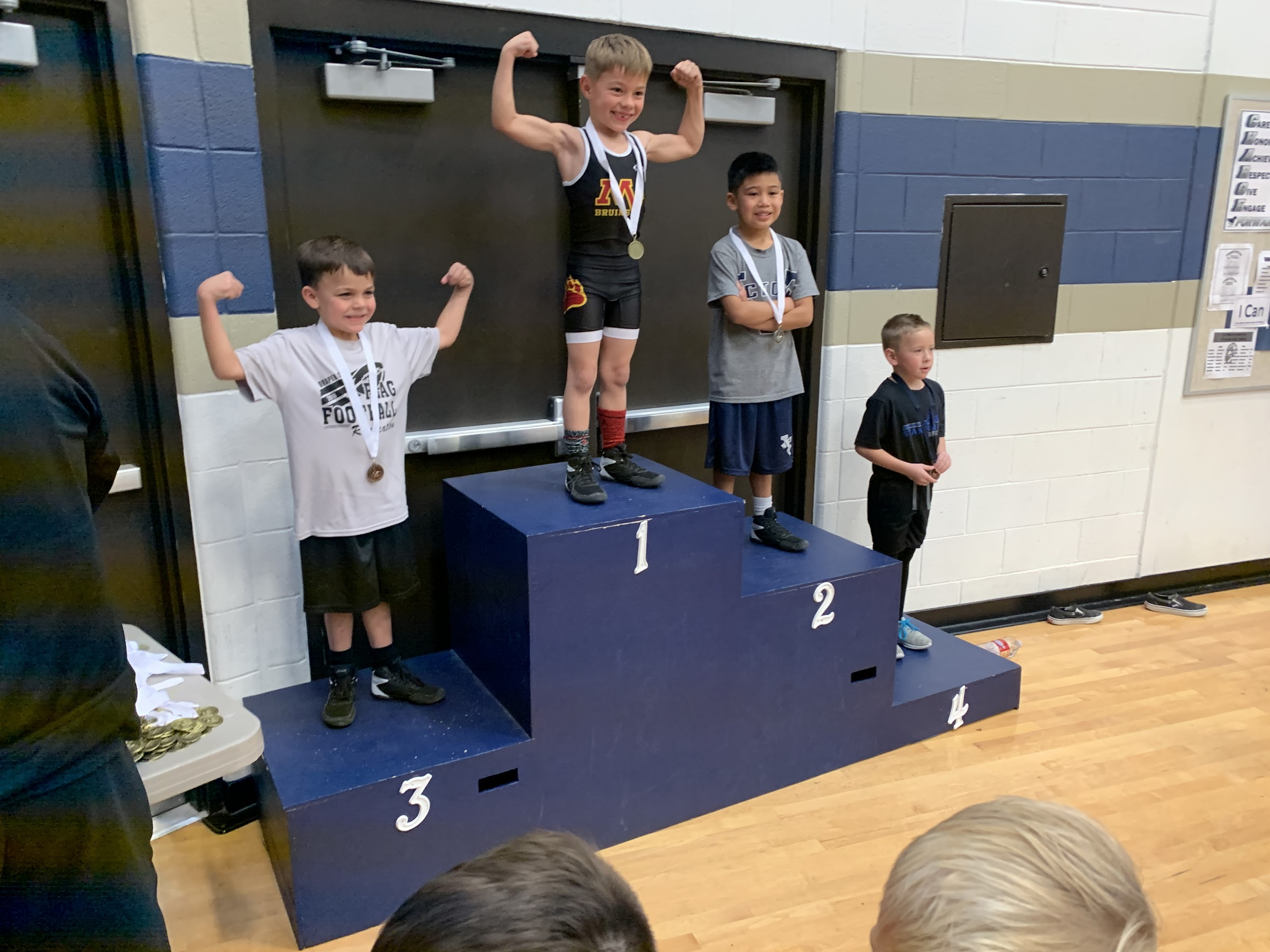 Roo at his first wrestling match