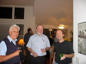 Photo: PROFESSORS REIN TAAGEPERE, IMBS DIRECTOR DONALD SAARI  AND JAMES FOWLER