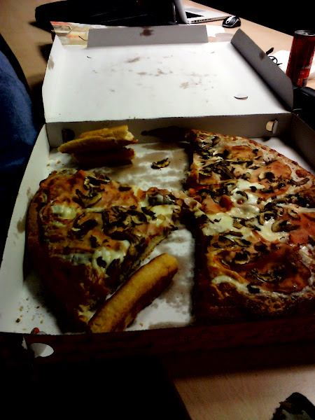 Photo: Hackathon and pizza!