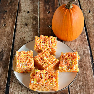 Candy Corn Rice Krispies Treat
