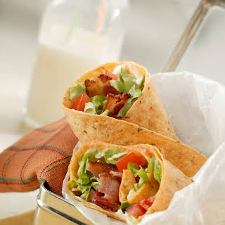 Bacon, Lettuce and Tomato Wraps.