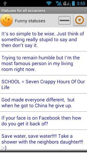 Statuses for all occasions 2.63 screenshots 2