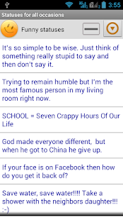Statuses for all occasions- screenshot thumbnail