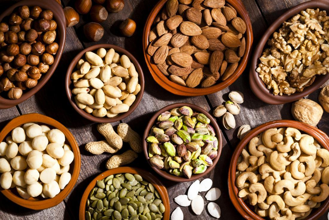 weeds and nuts which are good examples of good fats