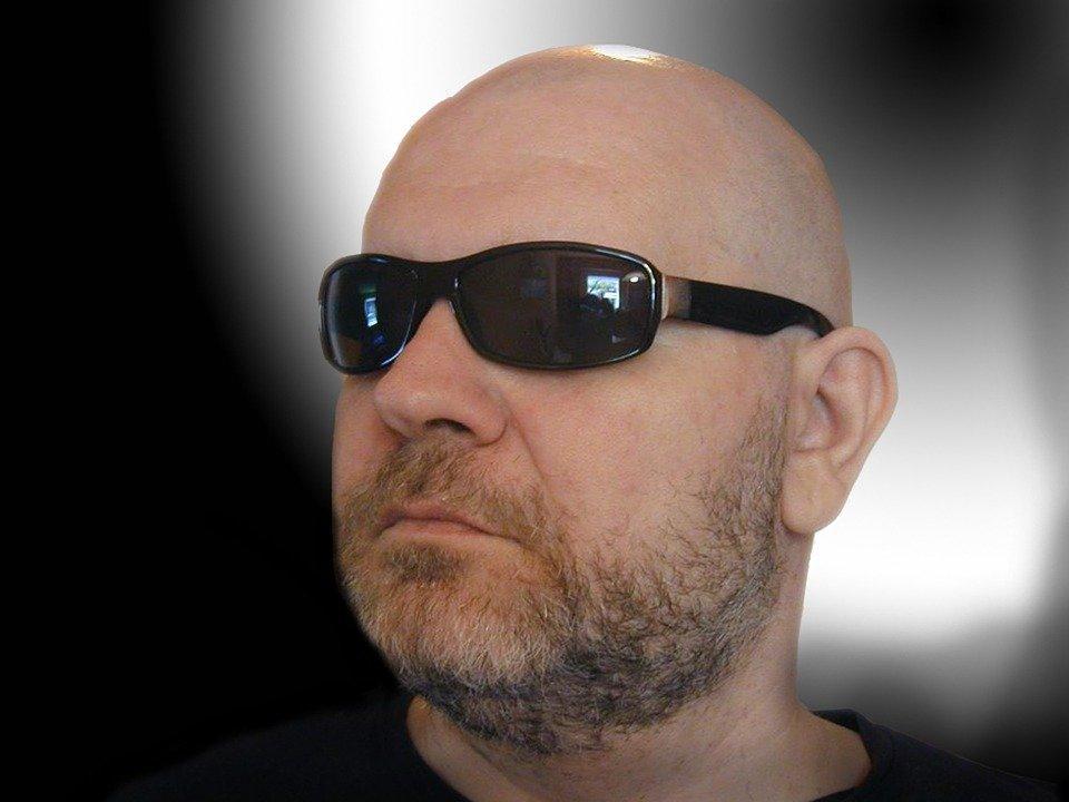 Bald Head, Man, Sunglasses, Person, Human, Head, Bart