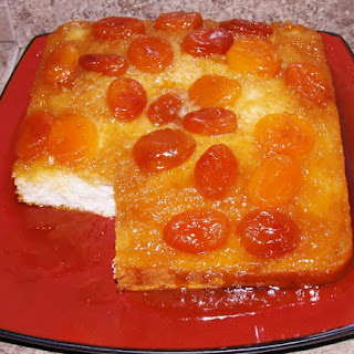 7 UP Apricot Upside-Down Cake.