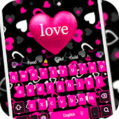 Pink girl love keyboard