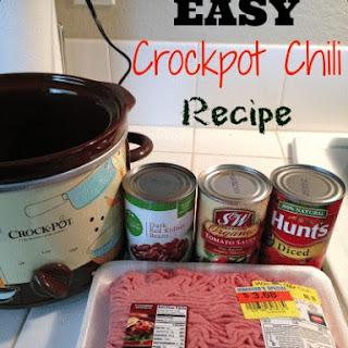 5 Ingredient Crockpot Chili.