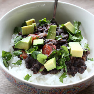 Cuban Black Beans With Rice & Avocado