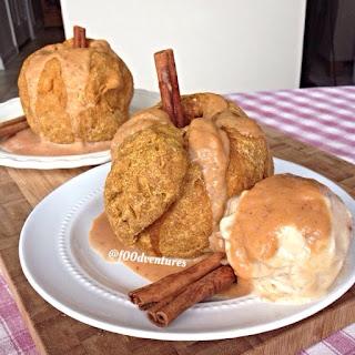 Speedy Vegan Apple Dumplings with Pumpkin Caramel.