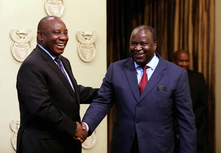 President Cyril Ramaphosa and finance minister Tito Mboweni. Picture: ESA ALEXANDER