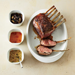 Rack of Lamb with Mustard-Shallot Sauce