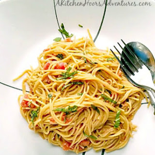 #MeatlessMonday Pasta with Pomodoro Cream Sauce.
