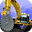 Up Hill Crane Cutter Excavator icon