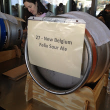 Photo: New Belgium provided a cask of extremely rare, sour base beer from the Colorado brewery's wooden aging tanks. Quite a treat!