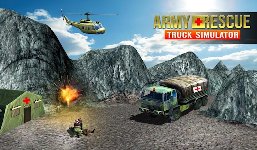 army rescue truck simulator - náhled