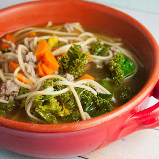 Chinese Noodle Vegetable Soup.