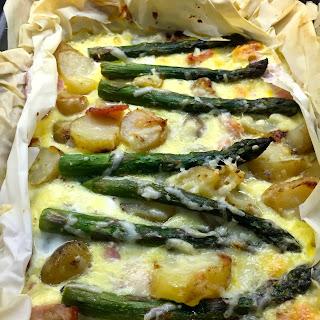 Asparagus & Jersey Royals Filo Tart.
