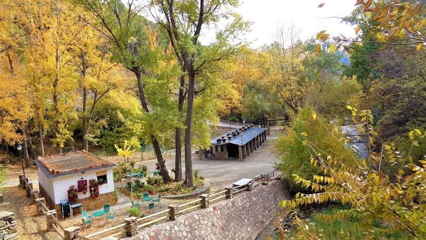 Área Recreativa El Nacimiento, situada en Laujar de Andarax, en la Alpujarra almeriense.