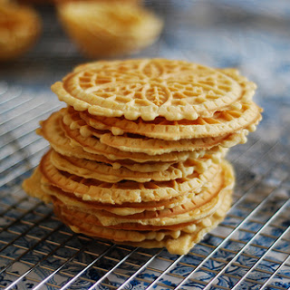Pizzelles and Making Ice Cream Cups.