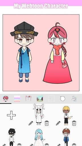 My Webtoon Character - K-pop IDOL avatar maker apktram screenshots 6