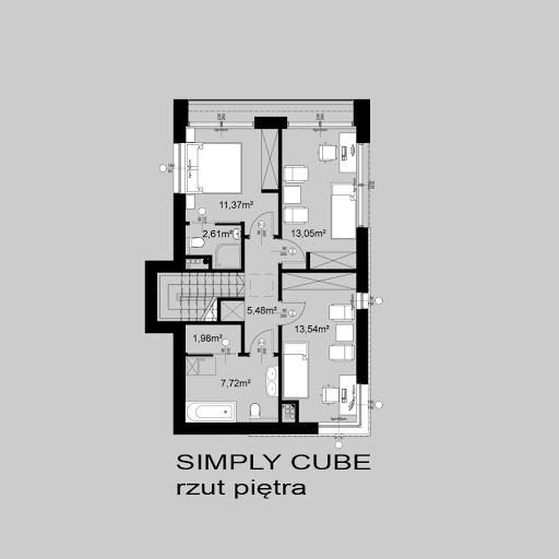 Simply Cube - Rzut piętra