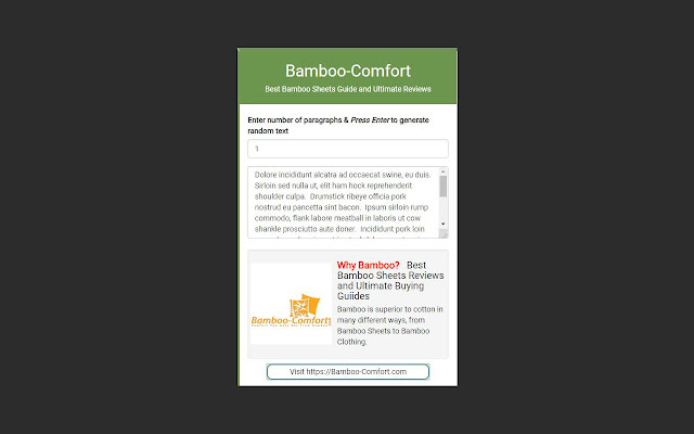 Bamboo-Comfort's Random Text Generator!