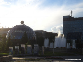 Photo: A cool cafe and fountain in Novosibirsk