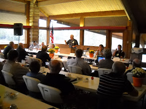 Photo: Rick Lavinsky of Hide-A-Way Hills speaks during the OLCA Meeting.
