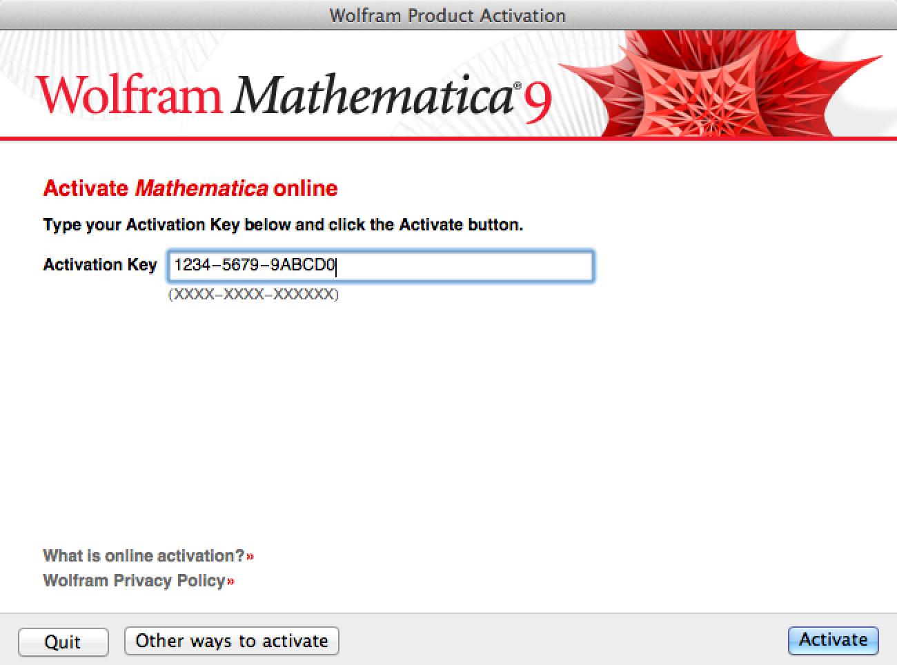 Mathematica Activation Key