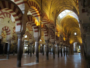 Photo: Inside La Mezquita, there are hundreds of pillars.