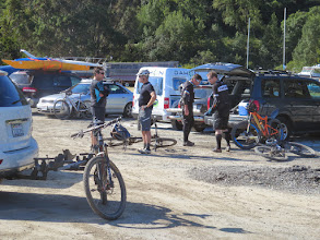 Photo: Shut out of China Camp due to a marathon we met at Buck's Landing, with many mountain bikers