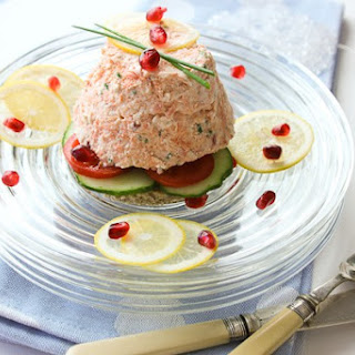 Poached Salmon Mousse and Champagne