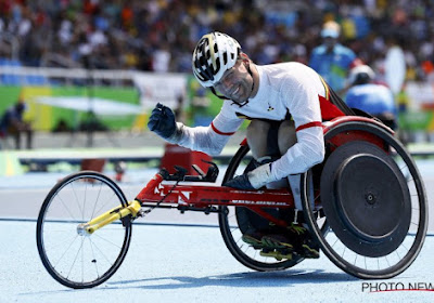 Un Belge bat le record du monde du 100 mètres en chaise roulante