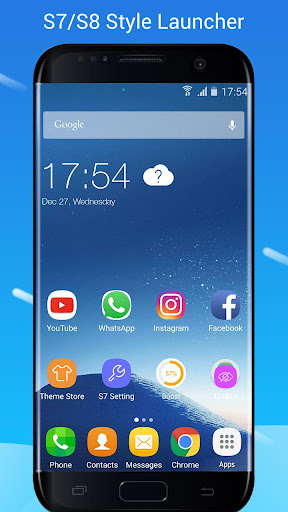 S7/S8 Launcher for Galaxy S/A/J/C, theme icon pack 3.6 screenshots 1