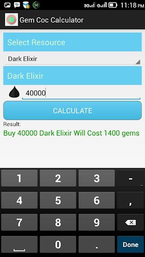 Gem Calculator Coc