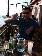 Photo: Mick, anchovies and ouzo