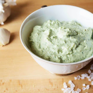 Vegan Garlic Basil Aioli