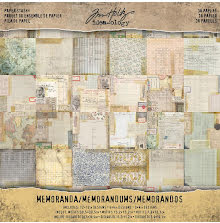 Tim Holtz Idea-0logy Paper Pad 12X12 36/Pkg - Memoranda