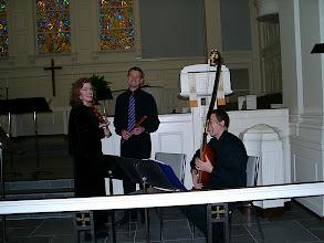 Photo: April 2002: Venetian Vespers Service; Valerie Arsenault, Rob Fleischmann, Jeffrey Copeland